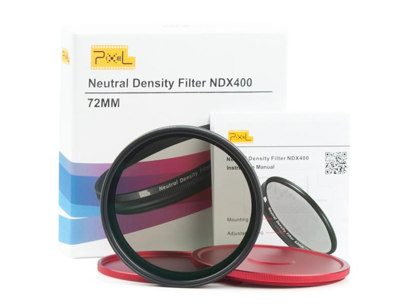 Pixel ND2-ND400 72mm filter, strong protection and improve quality.