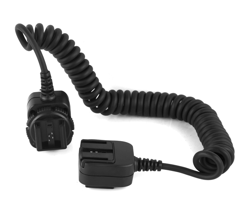 Pixel FC-313 hot shoe connecting cable, light separation and flexible use.