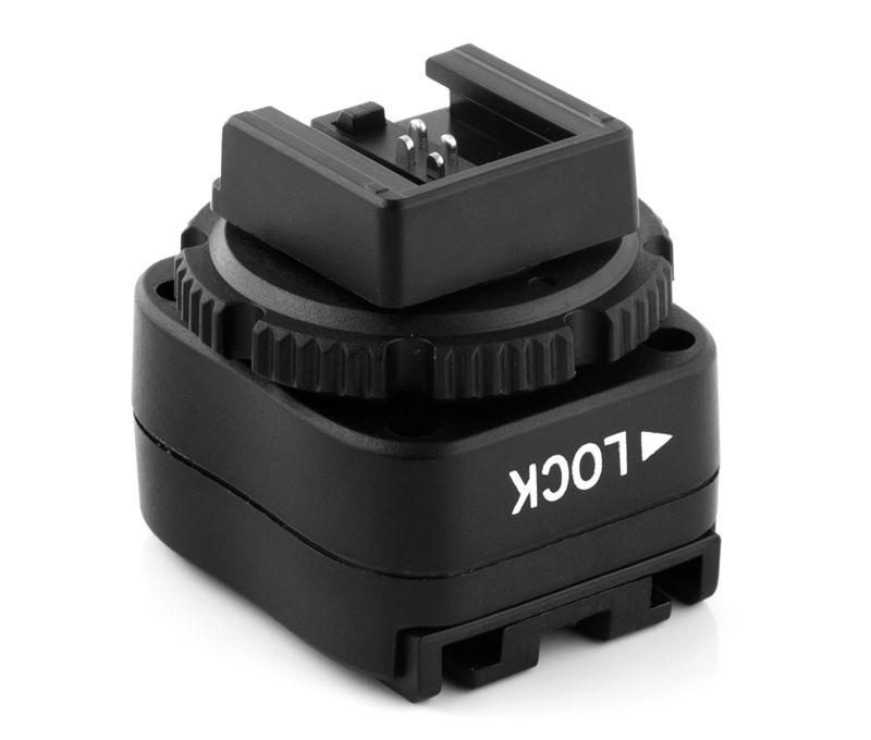 Pixel TF-323 Sony hot shoe adapter, interface transformation and multiple support.
