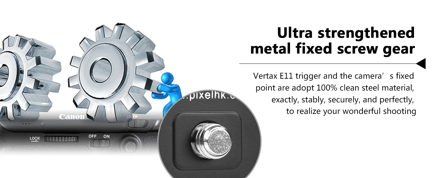 Ultra strengthened metal fixed screw gear