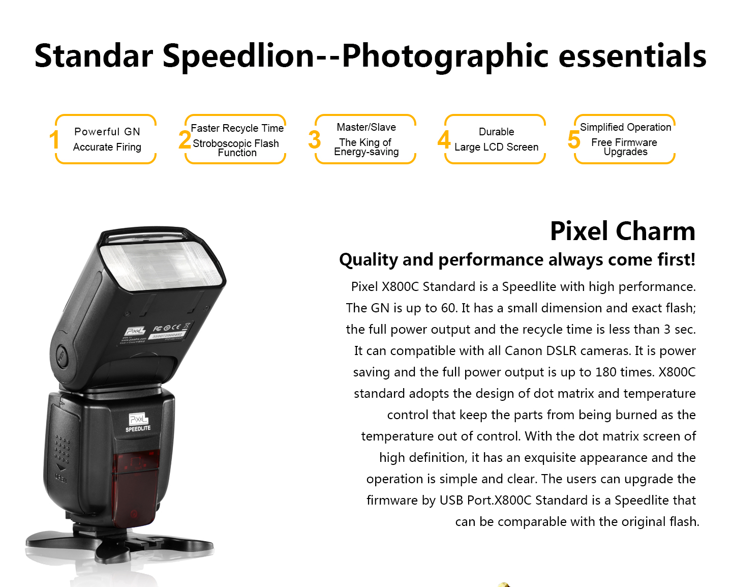 Standar Speedlion--Photographic essentials