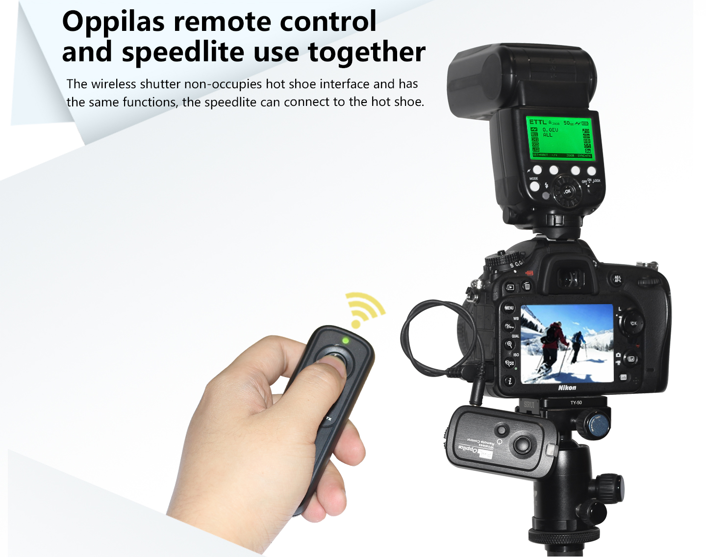 Oppilas remote control and speedlite use together