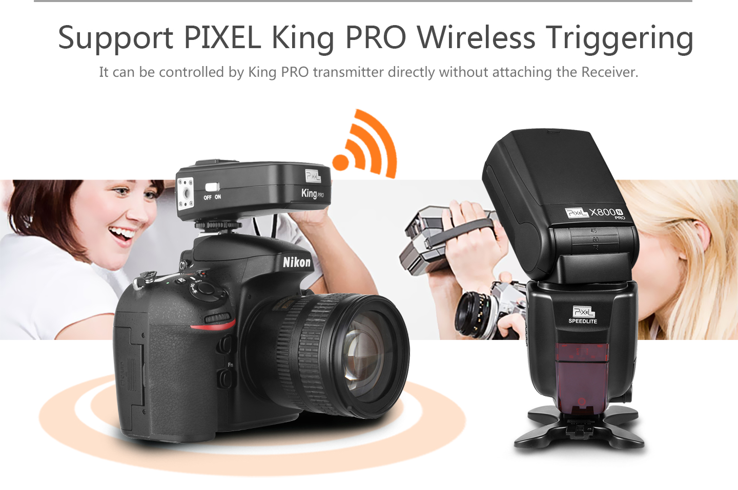 Support PIXEL King PRO Wireless Triggering