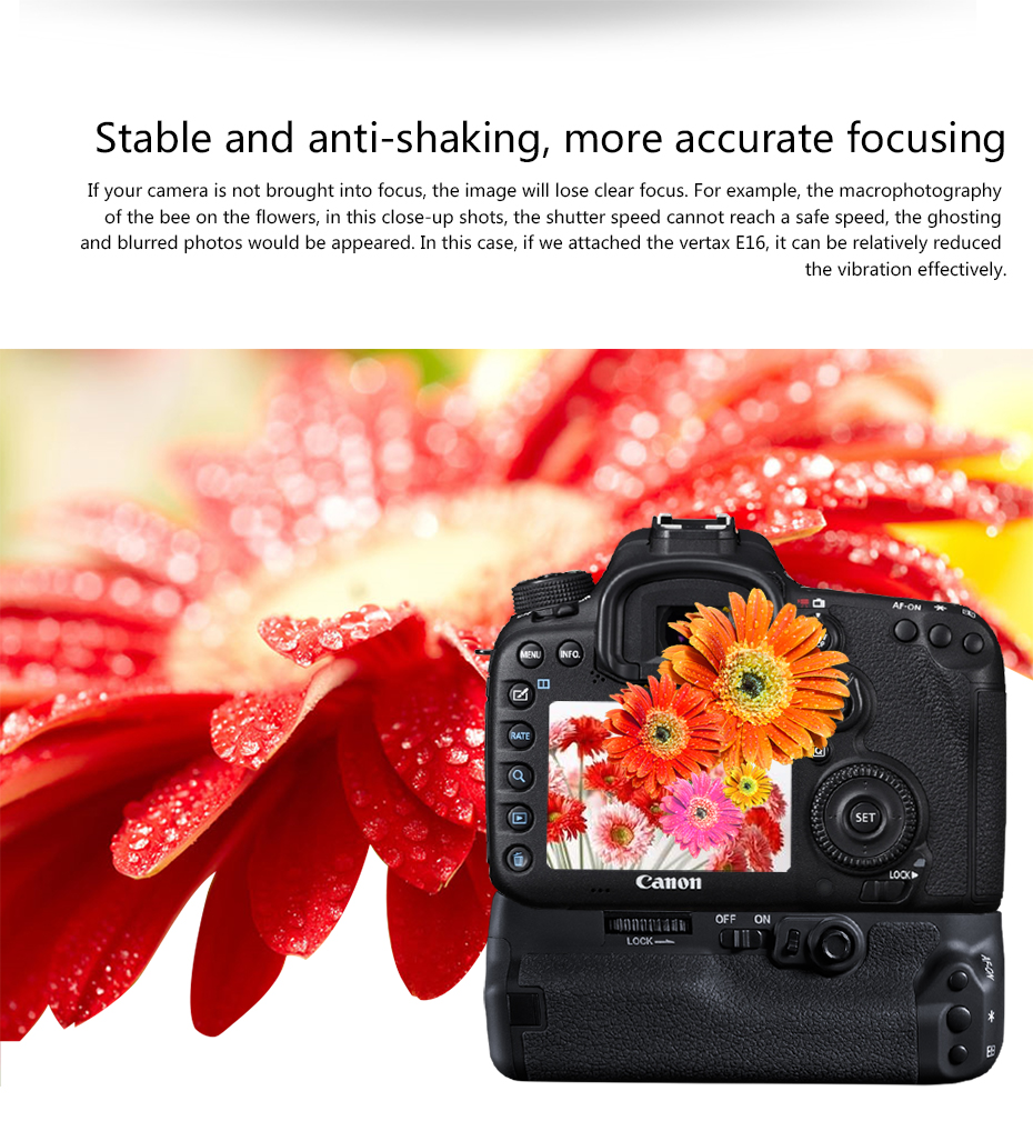 Stable and anti-shaking, more accurate focusing