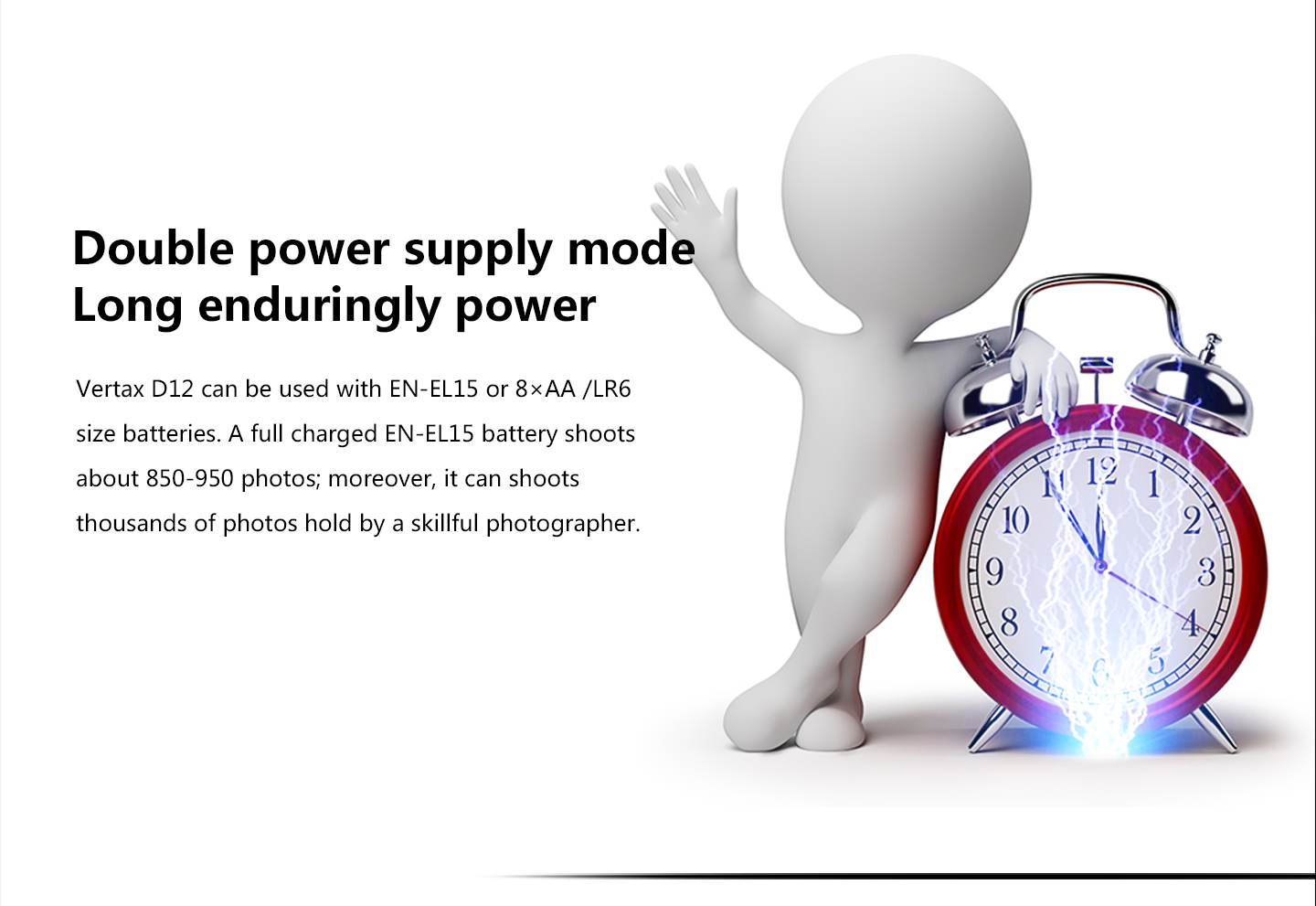 Double power supply mode Long enduringly power