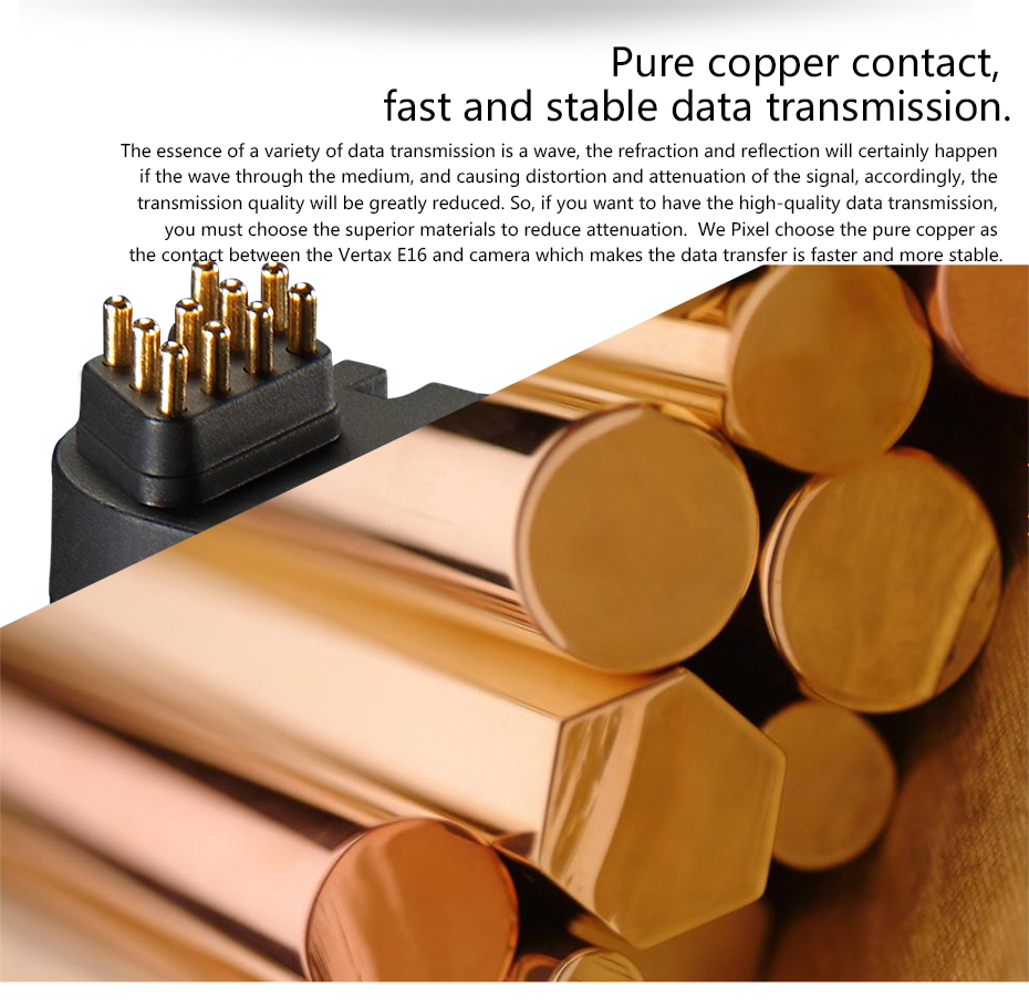 Pure copper contact, fast and stable data transmission