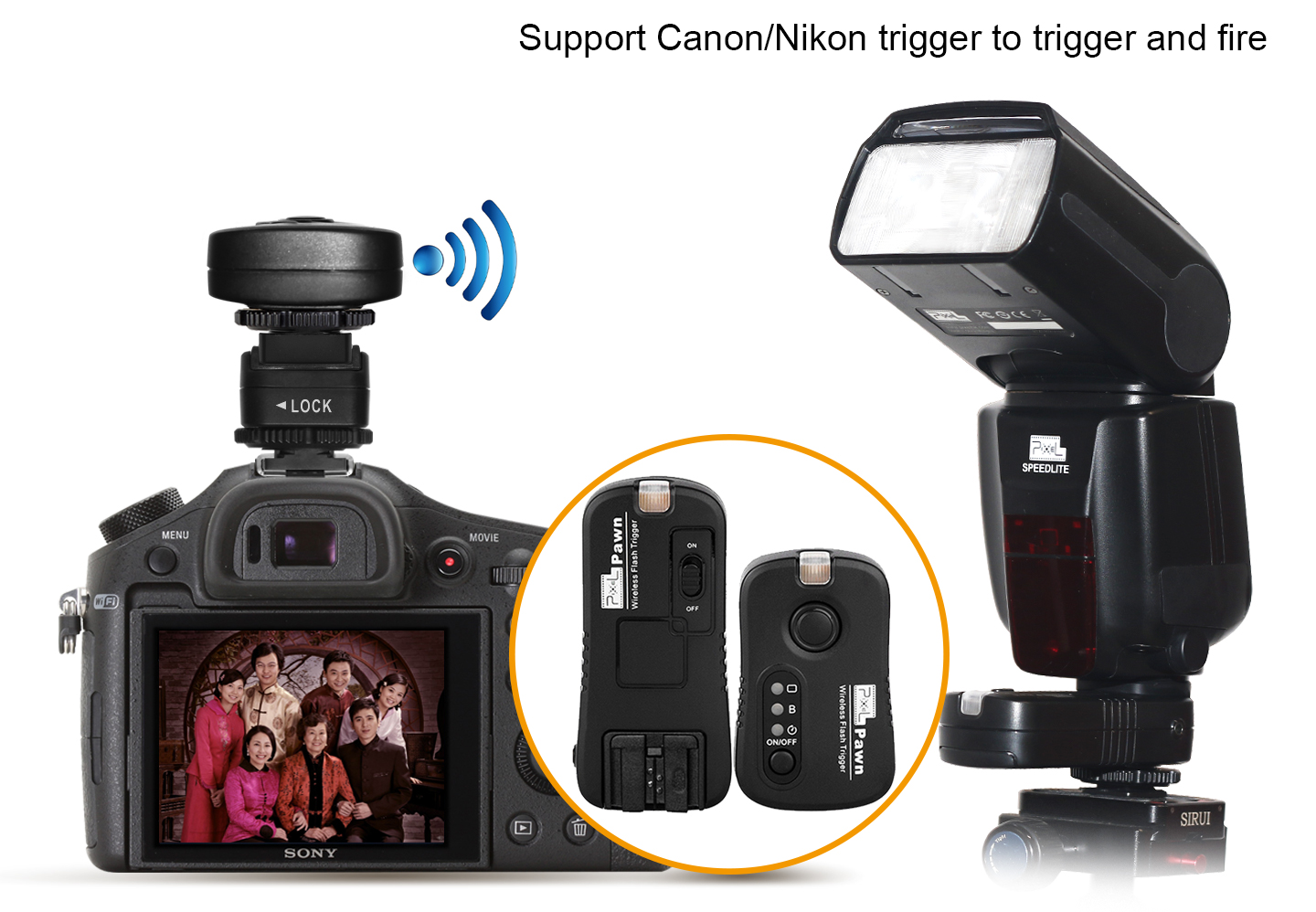 Support Canon/Nikon trigger and fire