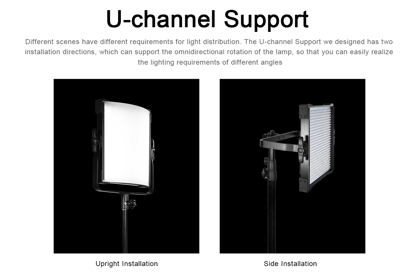 U-channel Support