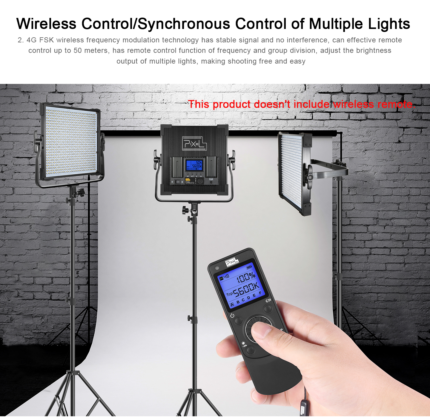 Wireless Control/Syncchronous Control of Multiple Lights
