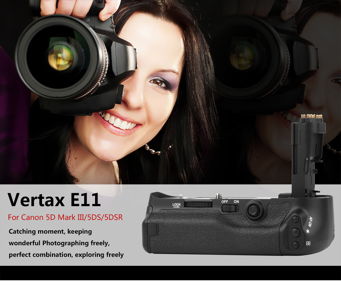 Vertax E11 For Canon 55D Mark III/5DS/5DSR